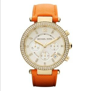 Michael Kors Parker Chronograph Watch Orange